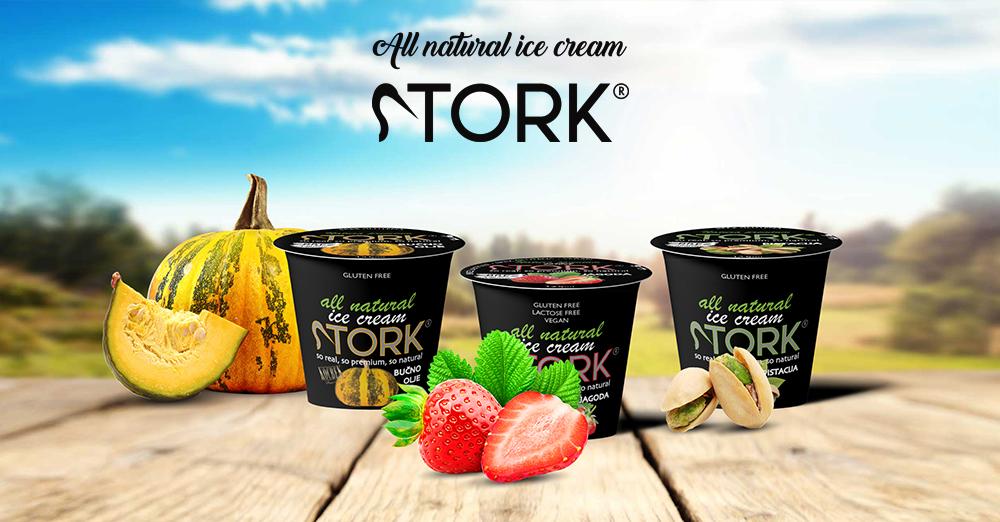 Stork Edinstven naravni sladoled